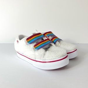 Vans Style 23 V Shearling Rainbow White Sneakers